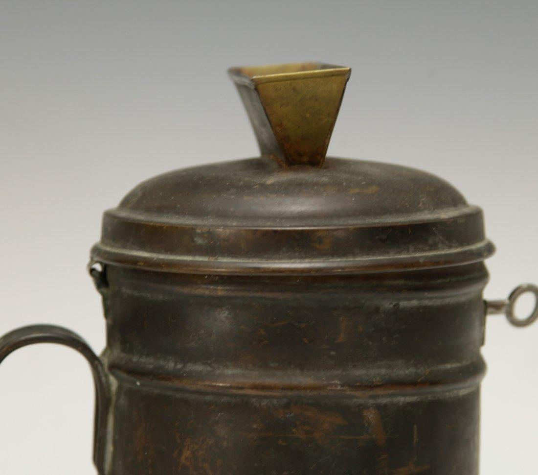 Judaica Copper Charity Box w/ Key - 2