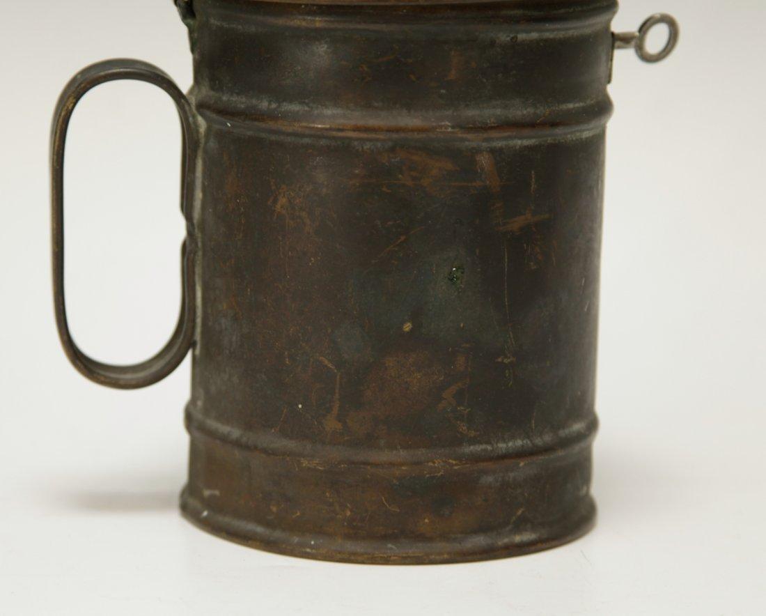 Judaica Copper Charity Box w/ Key - 3