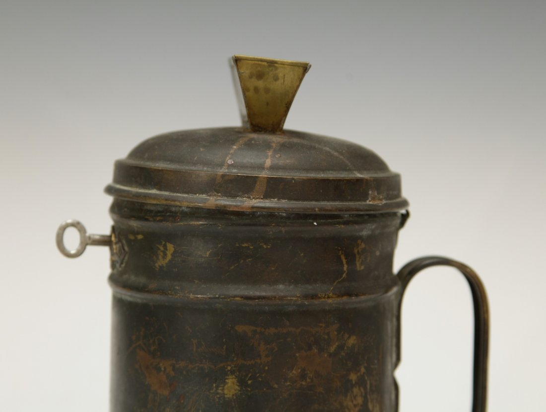 Judaica Copper Charity Box w/ Key - 5