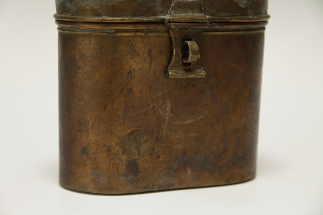 Judaica Copper Charity Box w/ Star of David & Key - 3