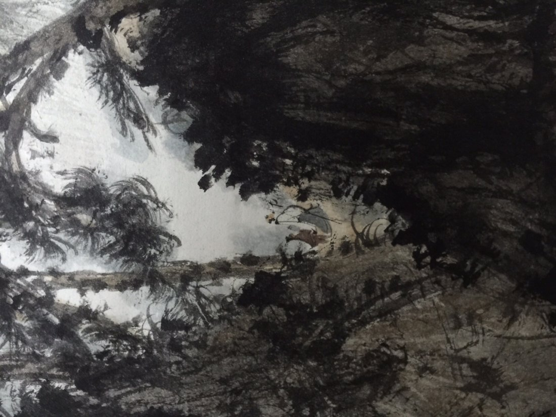 Chinese Ink Landscape Scroll Painting - 5