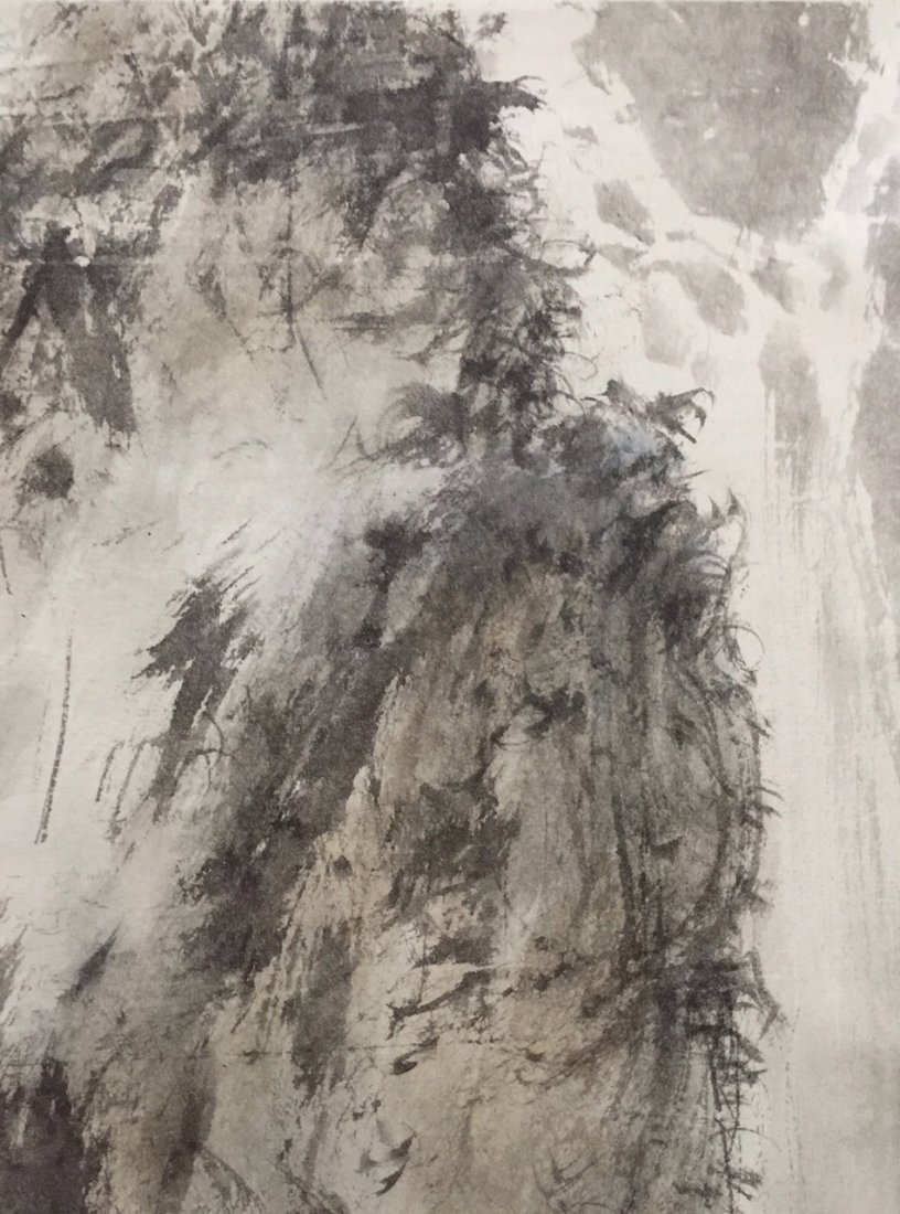 Chinese Ink Landscape Scroll Painting - 8