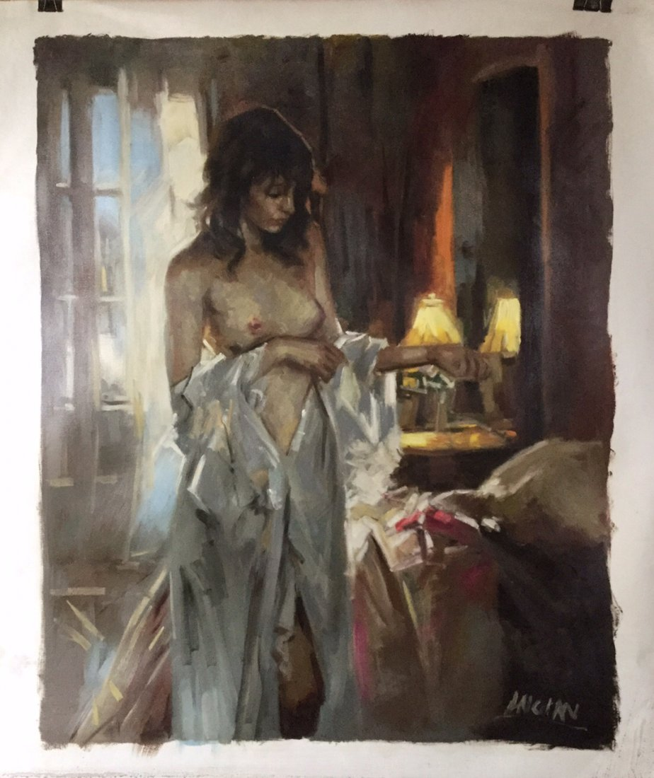 Oil Painting on Canvas, Nude Lady