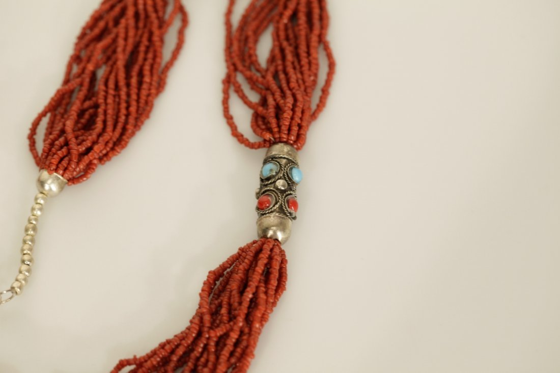 Chinese Coral Necklace - 7