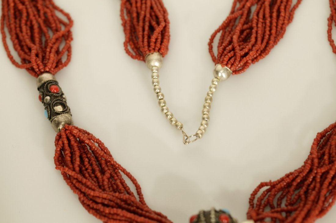 Chinese Coral Necklace - 8