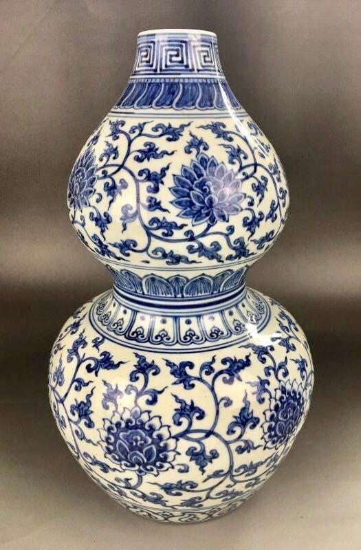 Chinese Blue/White Porcelain Gourd Shape Vase - 2