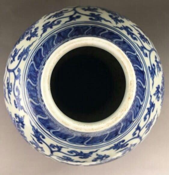 Chinese Blue/White Porcelain Gourd Shape Vase - 3