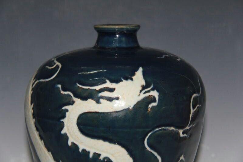 Chinese Blue/White Porcelain Floral Vase - 3