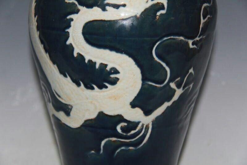 Chinese Blue/White Porcelain Floral Vase - 4
