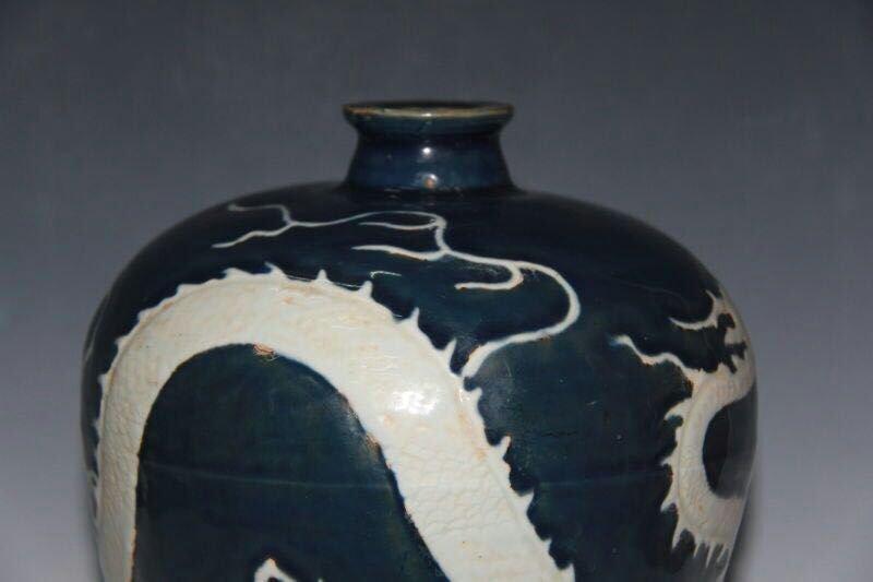 Chinese Blue/White Porcelain Floral Vase - 5