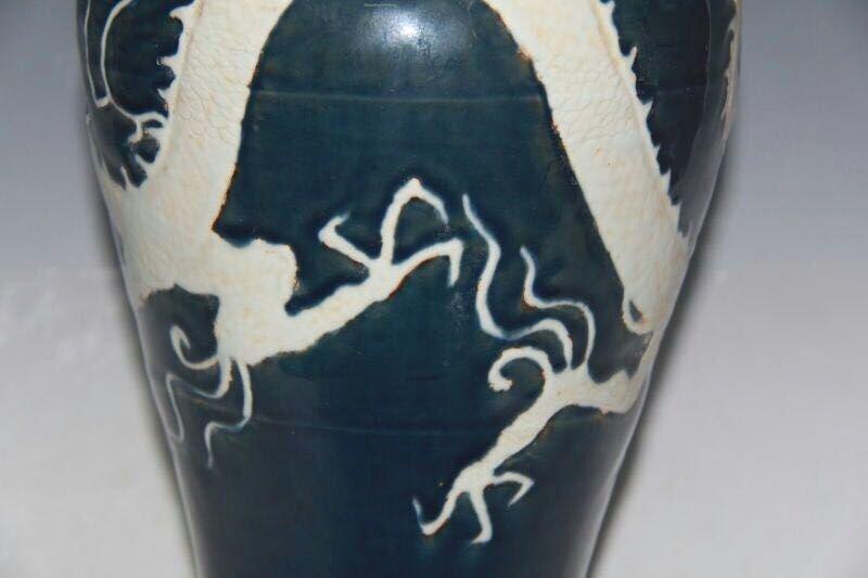 Chinese Blue/White Porcelain Floral Vase - 8
