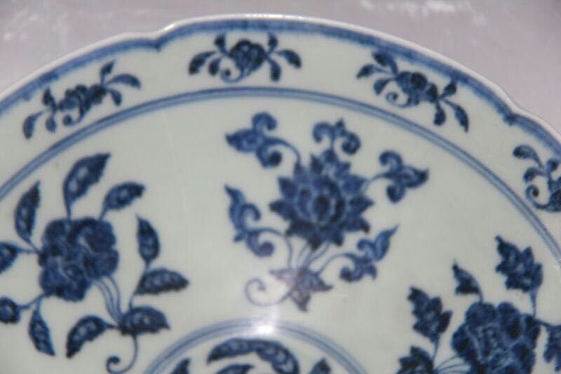 Chinese Blue/White Porcelain Bowl, Marked - 2