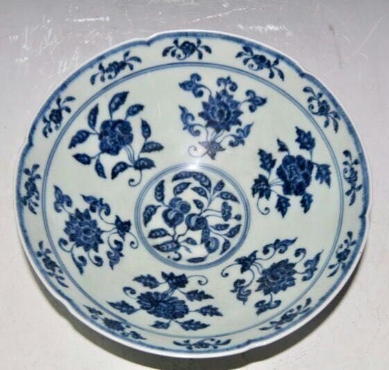 Chinese Blue/White Porcelain Bowl, Marked - 3