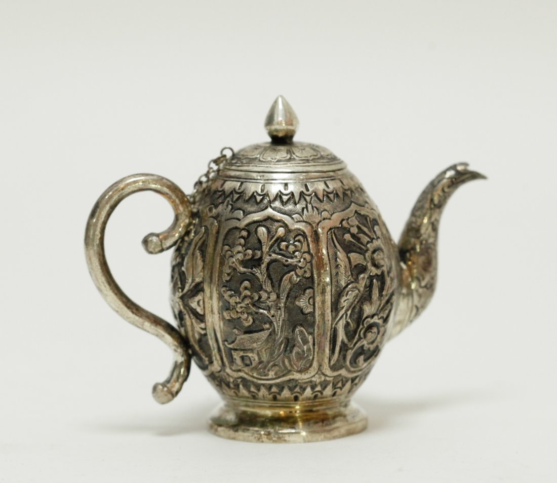 Chinese Export Silver Teapot w/ Fu Mark