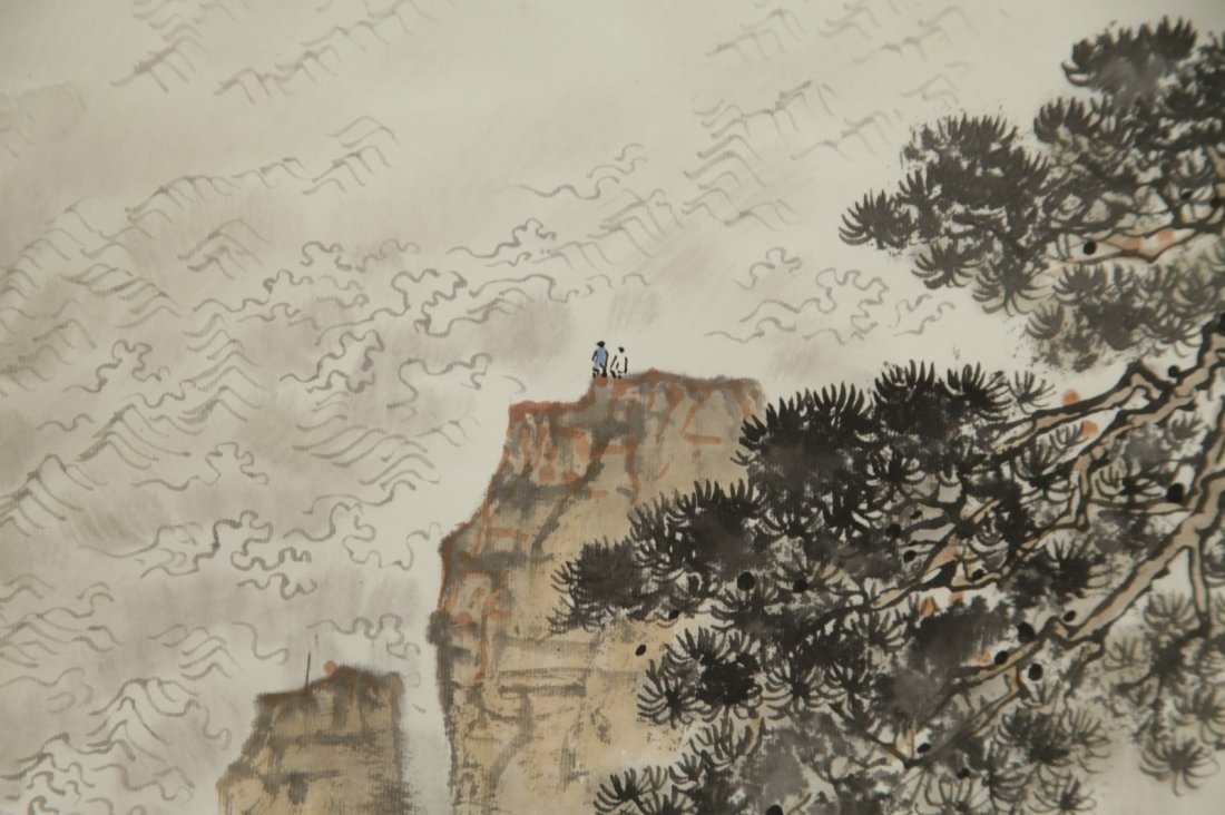 Chinese Ink/Color Scroll Painting - 8