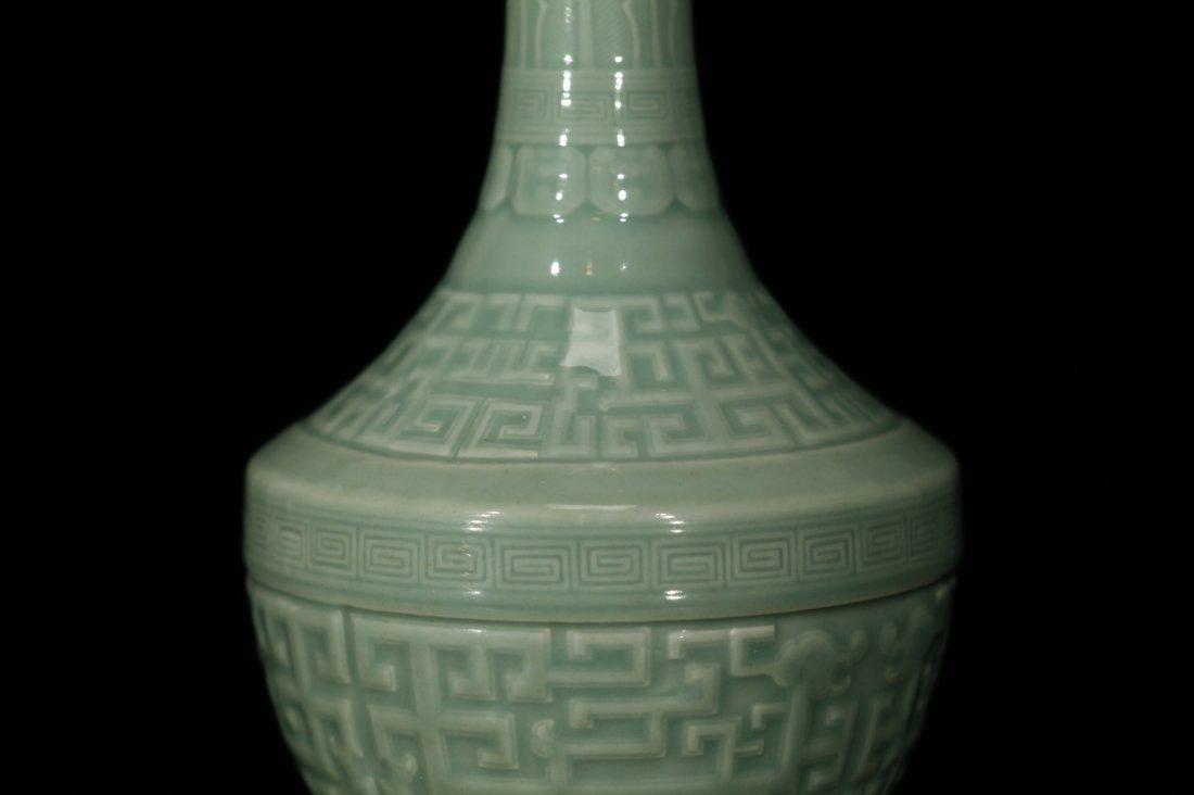 Chinese Celadon Glazed Porcelain Vase - 3
