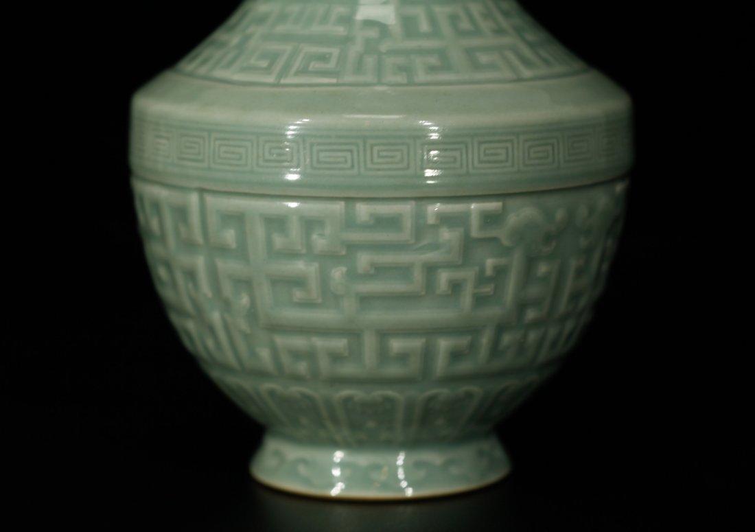 Chinese Celadon Glazed Porcelain Vase - 4