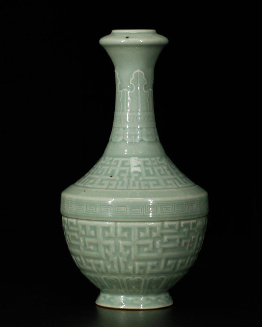 Chinese Celadon Glazed Porcelain Vase - 5