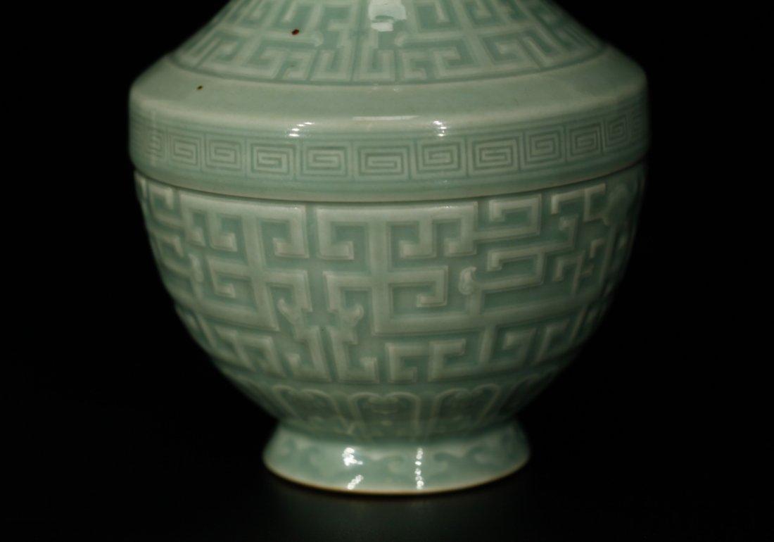 Chinese Celadon Glazed Porcelain Vase - 7