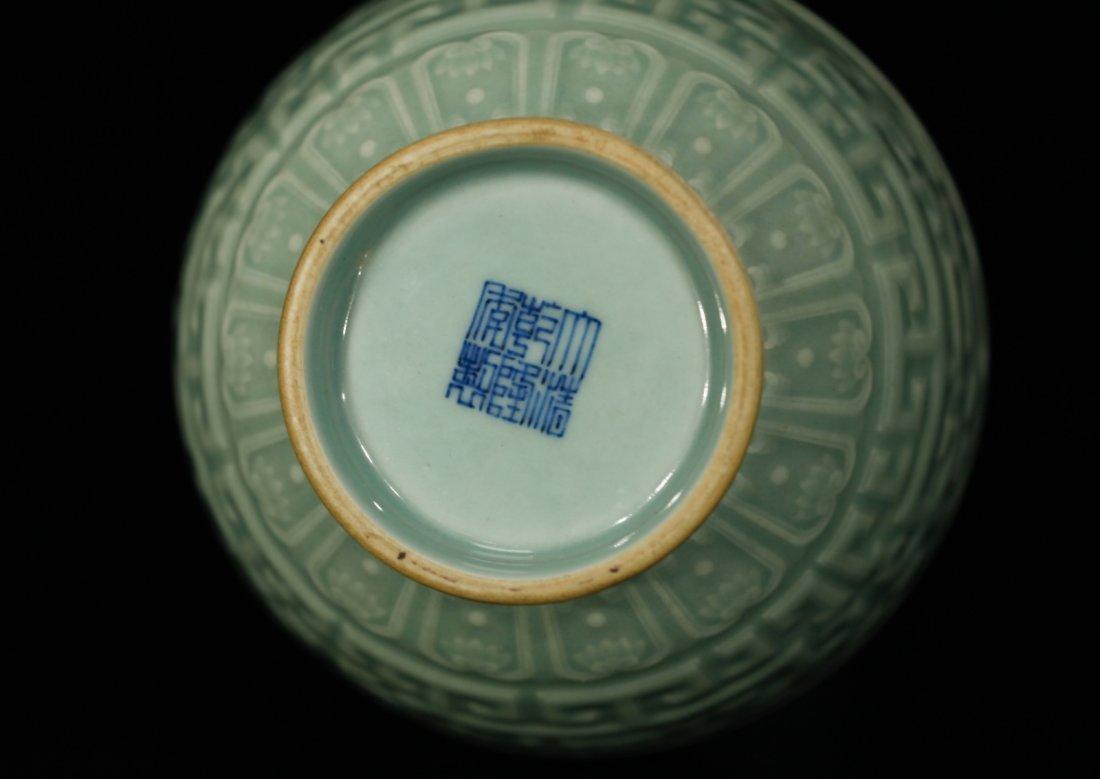 Chinese Celadon Glazed Porcelain Vase - 8