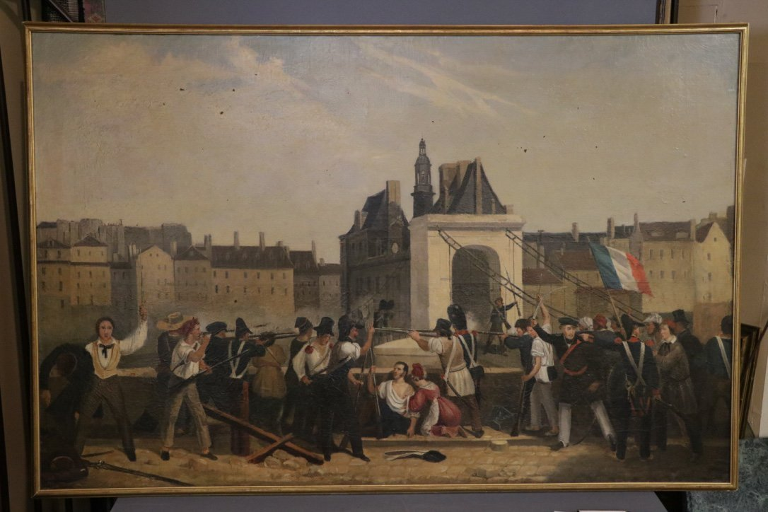 French Revolutionary 19th C. Oil on Canvas