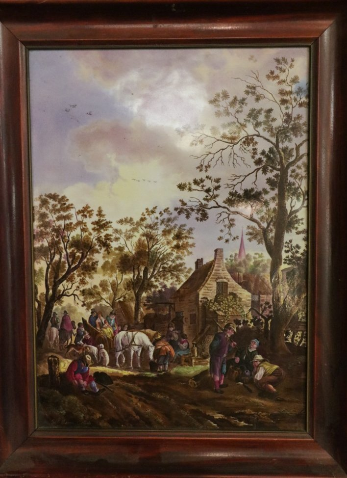 Late 19th C. French Severe Porcelain Plaque