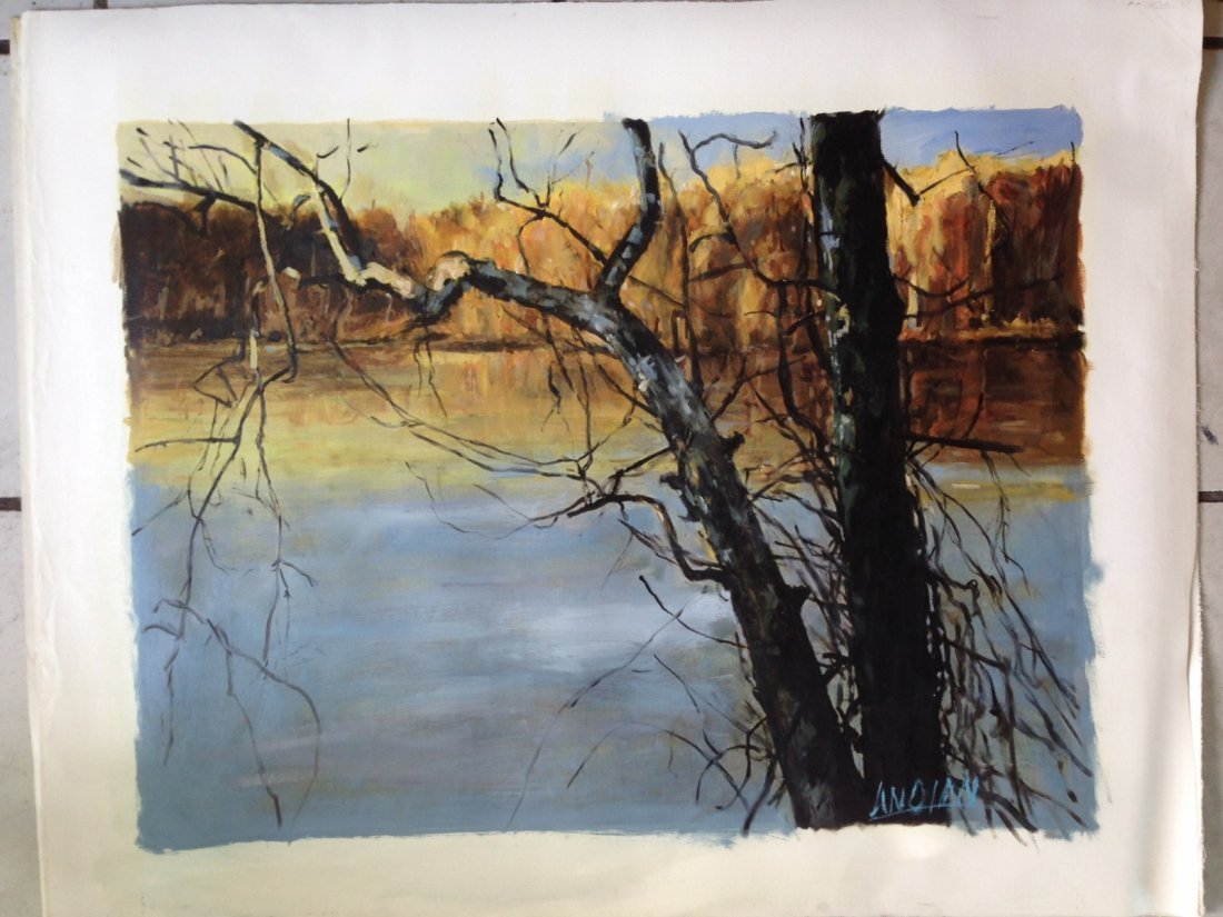 Oil Painting on Canvas, River