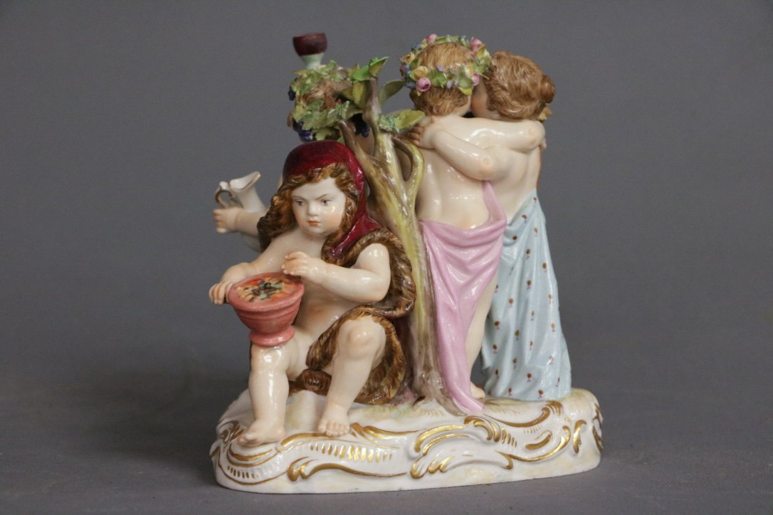 """Meissen"" Porcelain Figure of Children - 3"