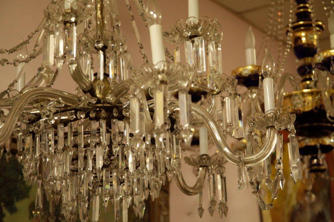 English Osier 12 Lights Crystal Chandelier - 2