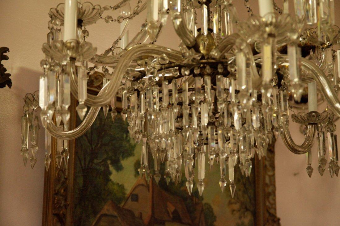 English Osier 12 Lights Crystal Chandelier - 3