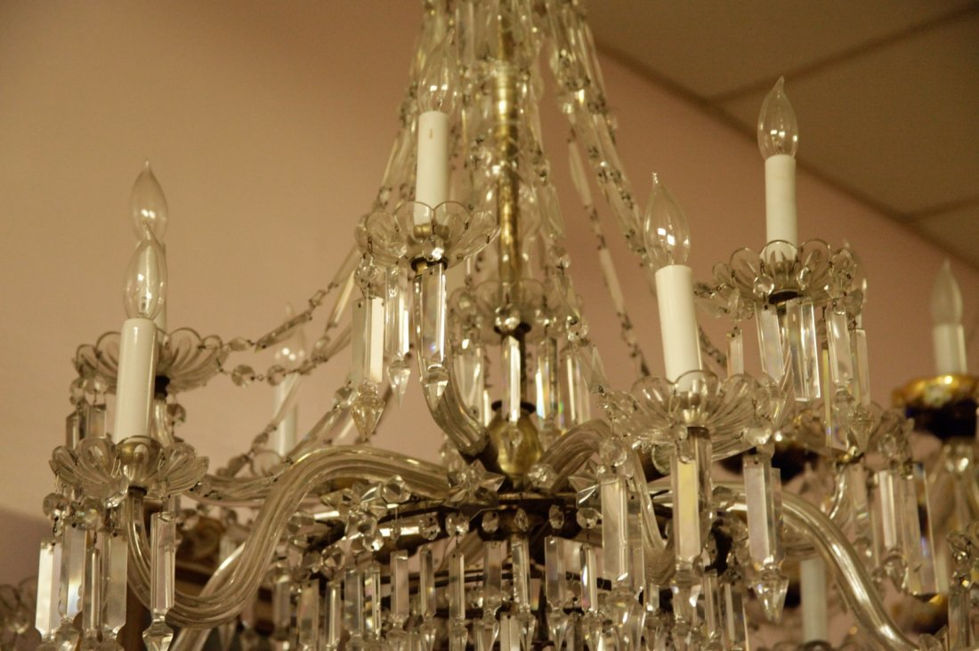 English Osier 12 Lights Crystal Chandelier - 4