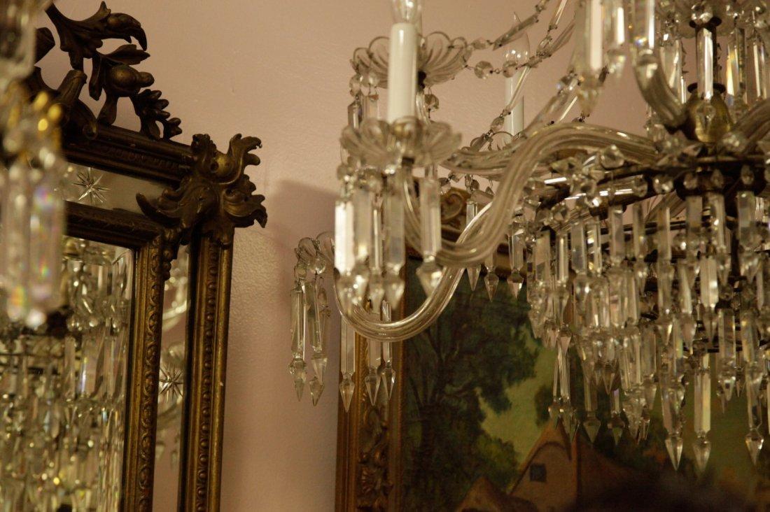 English Osier 12 Lights Crystal Chandelier - 5