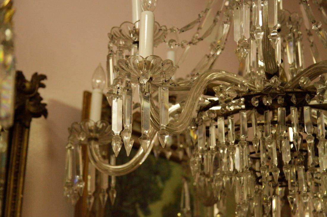 English Osier 12 Lights Crystal Chandelier - 7