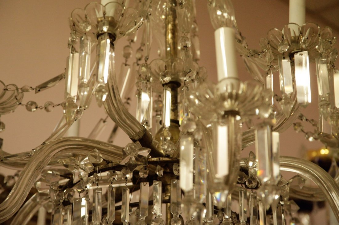 English Osier 12 Lights Crystal Chandelier - 8