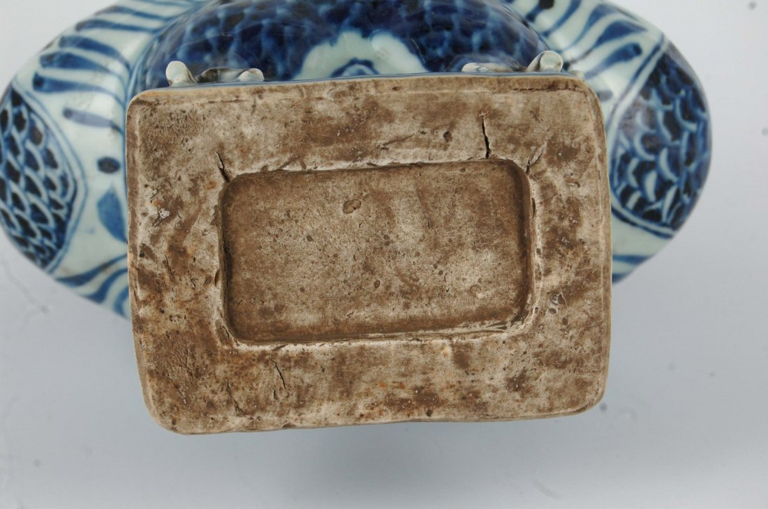 Chinese Blue/White Porcelain Phoenix&Dragon Vase - 10