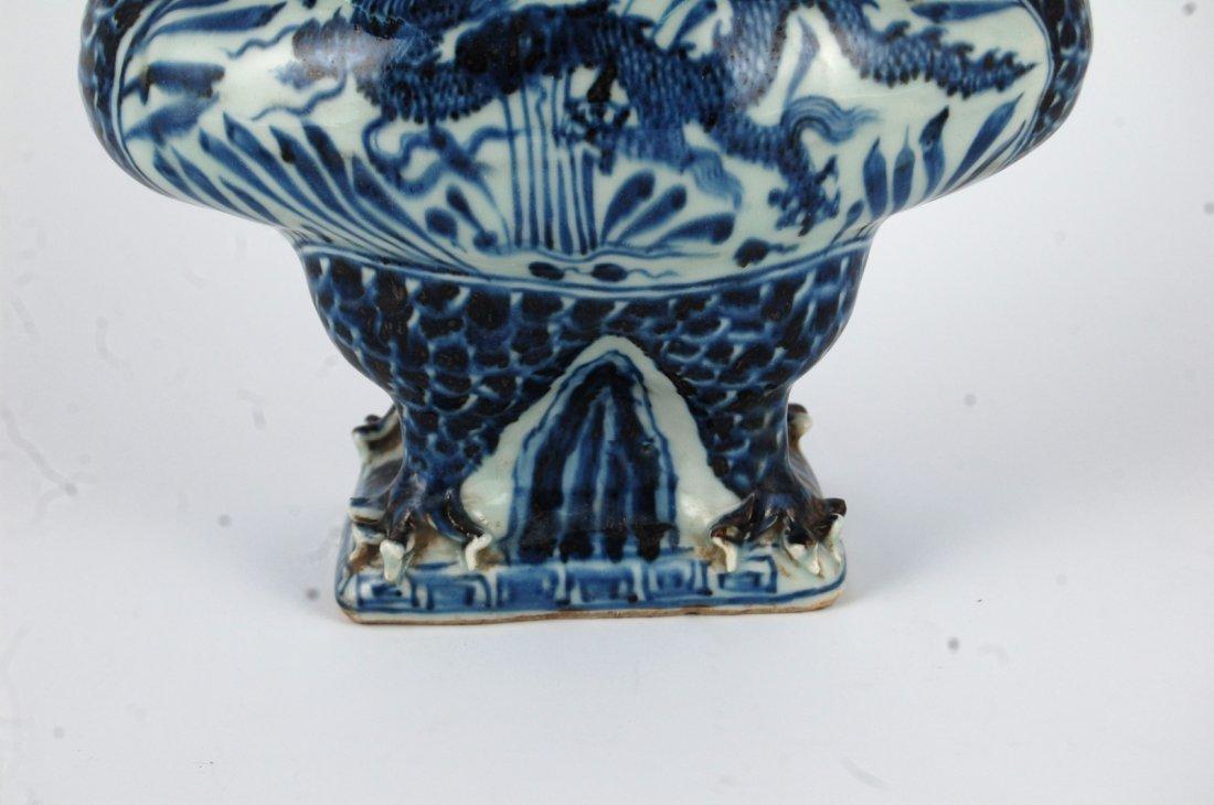 Chinese Blue/White Porcelain Phoenix&Dragon Vase - 5