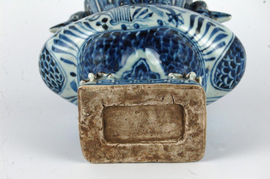 Chinese Blue/White Porcelain Phoenix&Dragon Vase - 9