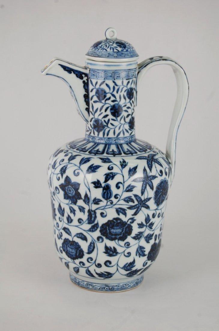 Chinese Blue/White Porcelain Ewer - 2
