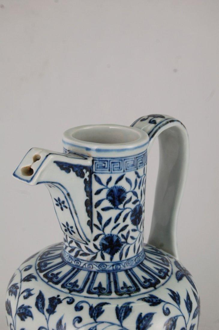 Chinese Blue/White Porcelain Ewer - 3
