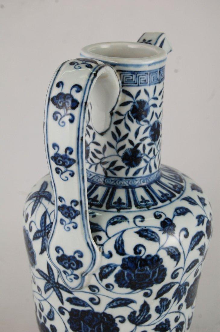 Chinese Blue/White Porcelain Ewer - 4