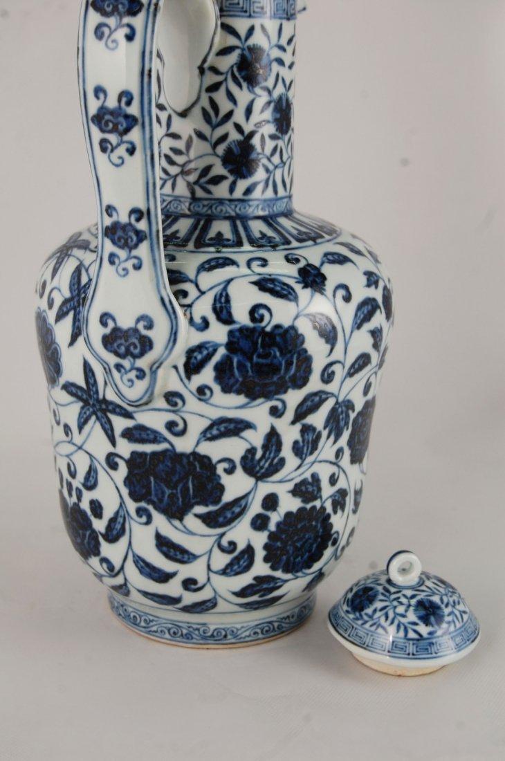 Chinese Blue/White Porcelain Ewer - 5
