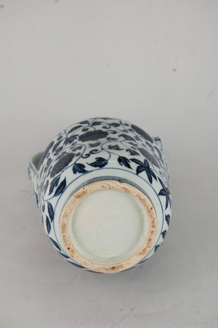 Chinese Blue/White Porcelain Ewer - 6