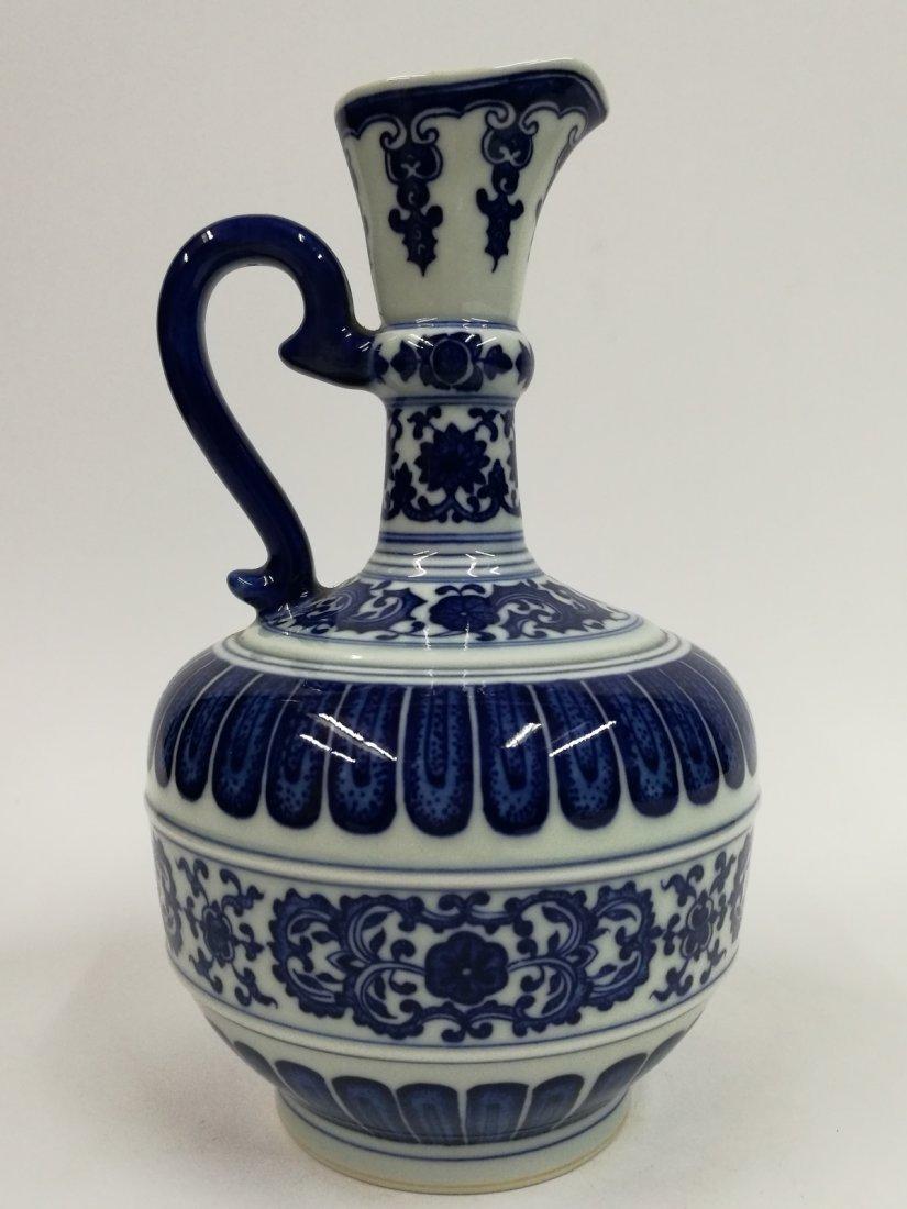 Chinese Blue/White Porcelain Teapot - 2