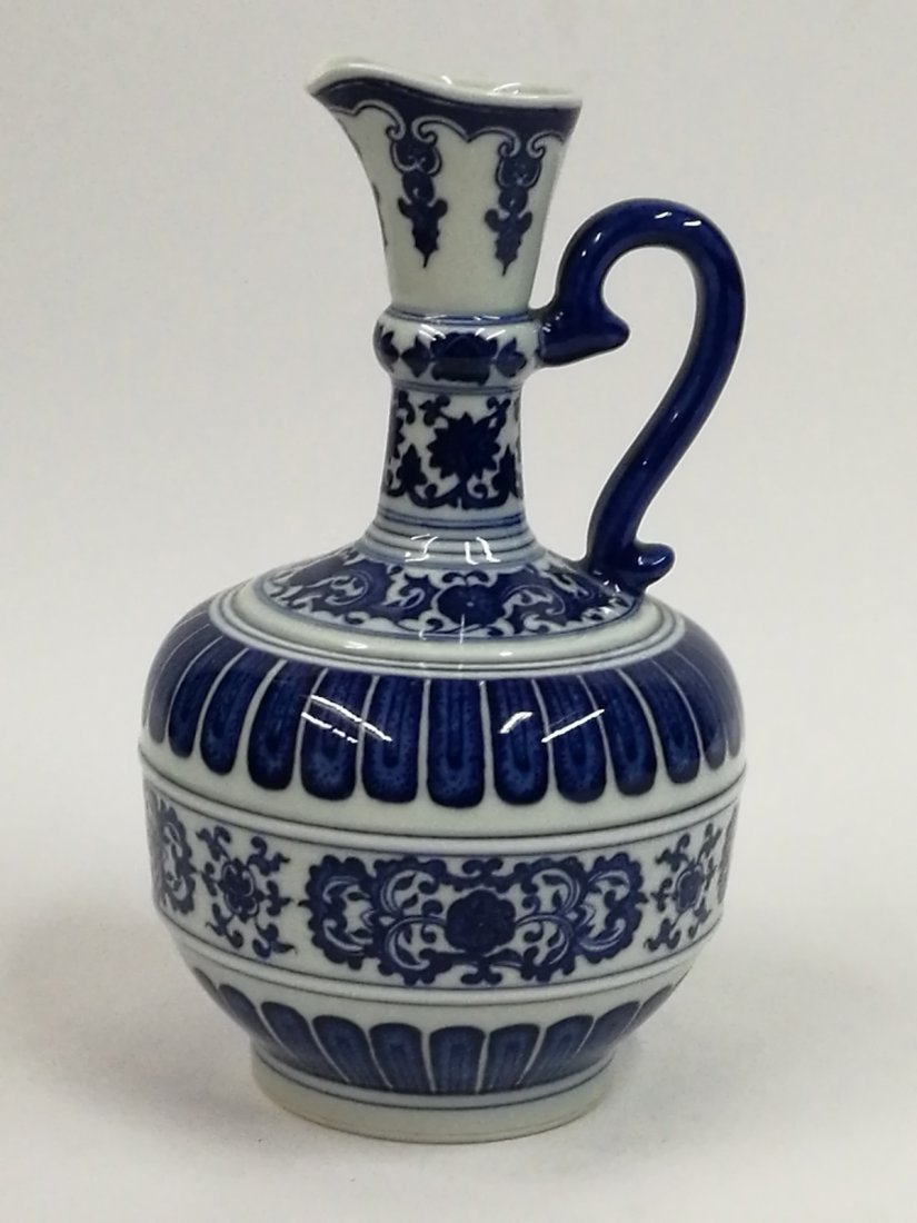 Chinese Blue/White Porcelain Teapot - 3