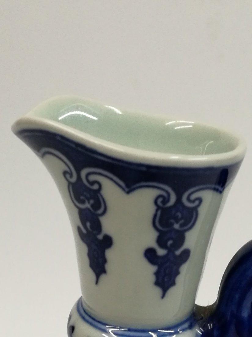 Chinese Blue/White Porcelain Teapot - 7