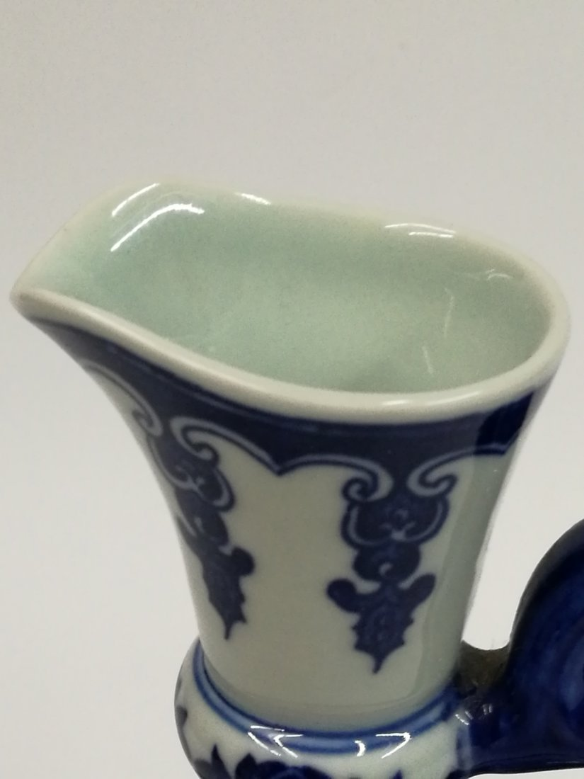 Chinese Blue/White Porcelain Teapot - 8
