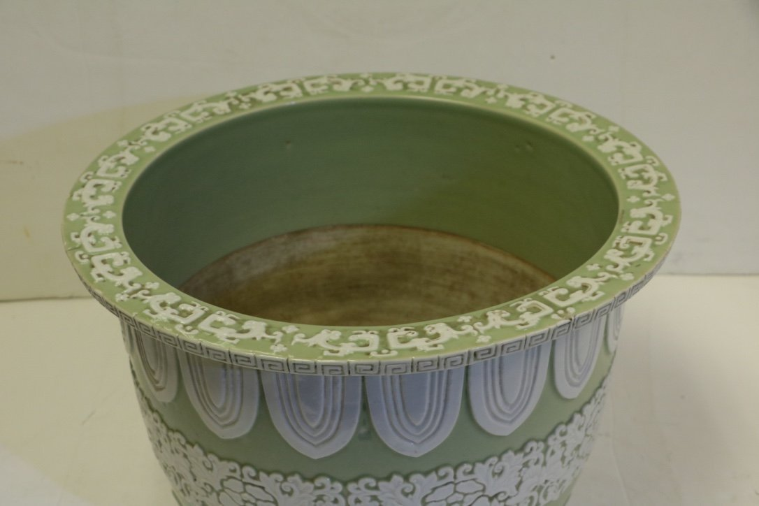 Chinese Green Glazed Porcelain Planter - 19th C. - 2