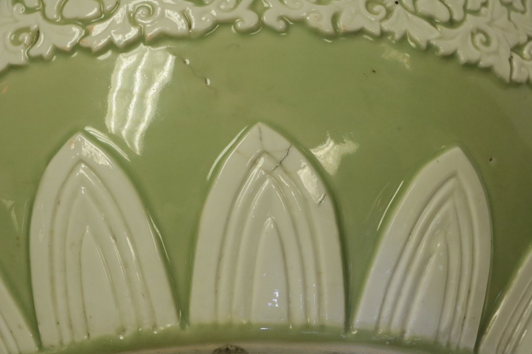Chinese Green Glazed Porcelain Planter - 19th C. - 9