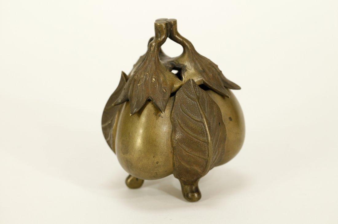 Japanese Meiji Period Bronze Censer - 4