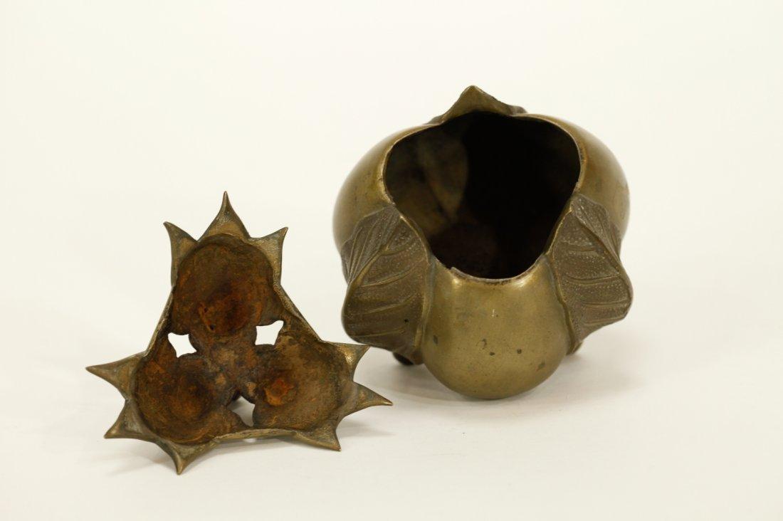 Japanese Meiji Period Bronze Censer - 6